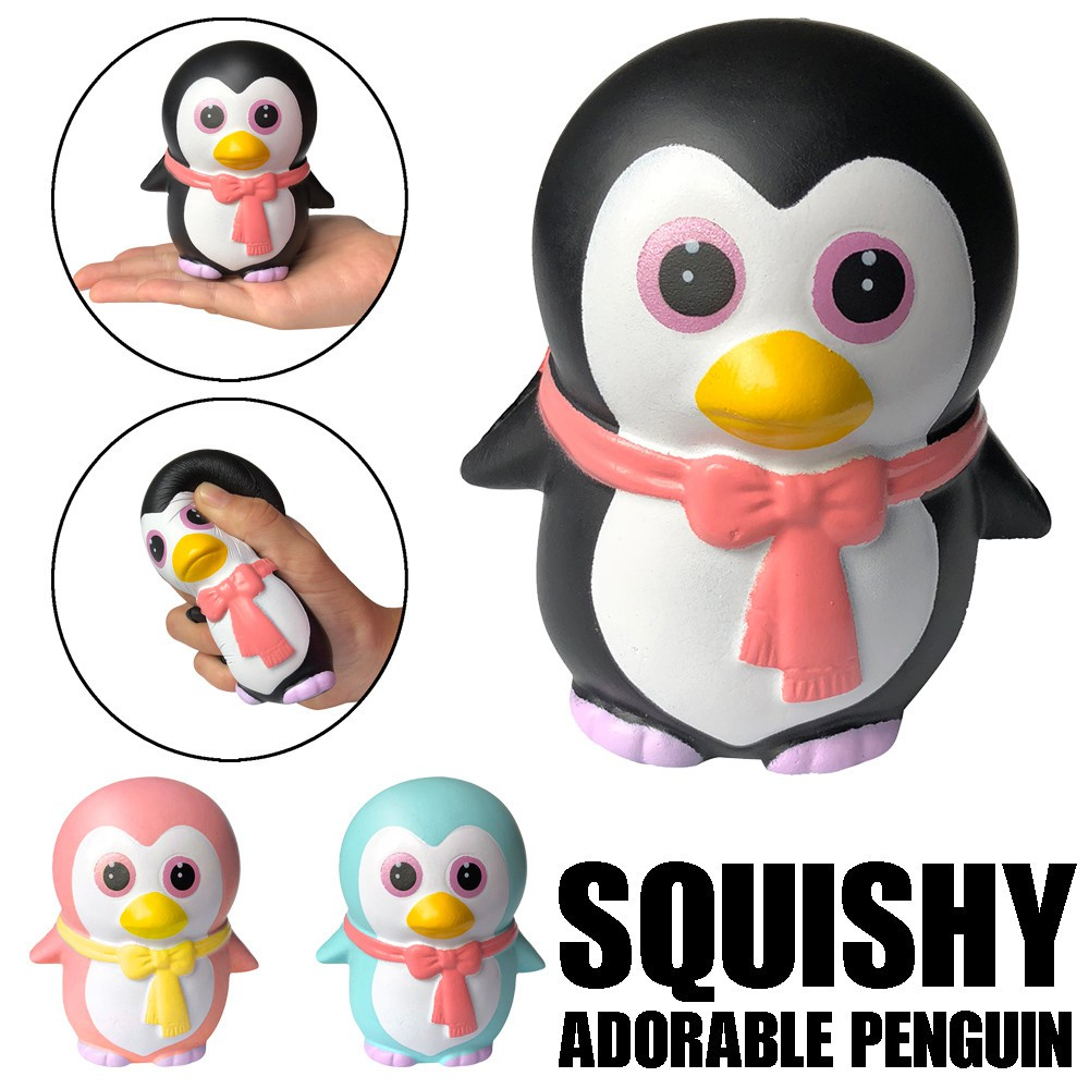Squishy Adorable Slow Rising Cute Squeeze Penguins Scented Stress Relief Toy Squishy Squish Decompression Animals Toys For Kid