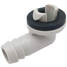 Кондиционер Ac сливной шланг соединитель Локоть Фитинг с резиновым кольцом для мини-сплит-блоков и окна Ac блок 3/5 дюймов(15 мм