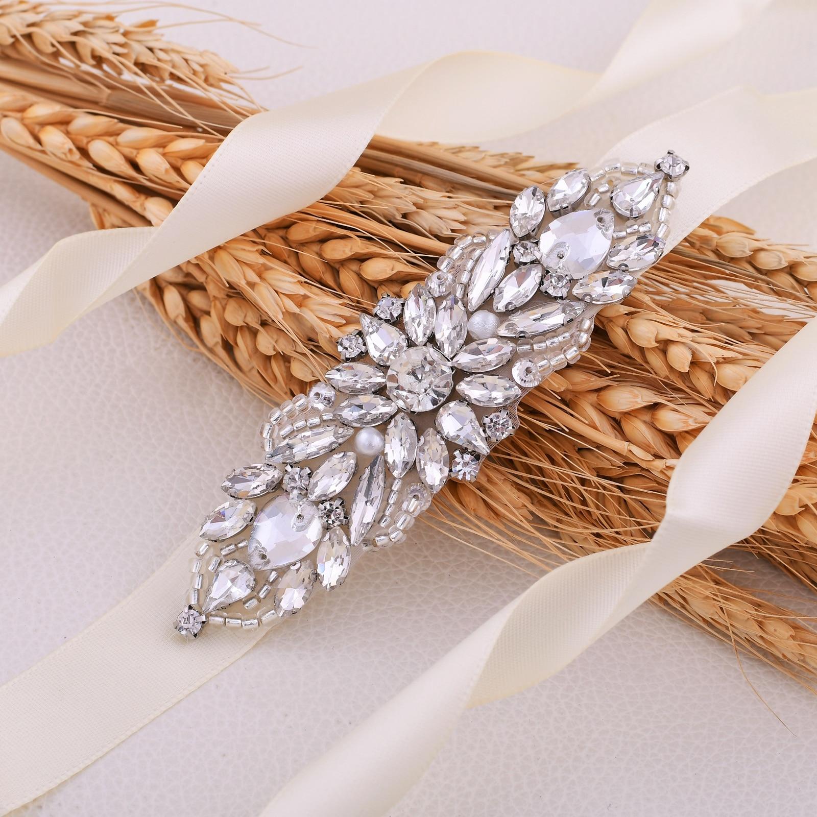 S337 Fashion Women Wedding Belt Bridal Dress Accessories Rhinestone Bridesmaid Dress Belts Prom Evening Dresses Belt for Women