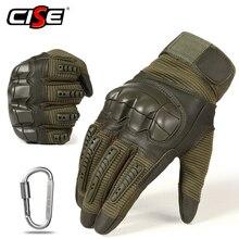 Tela sensível ao toque de couro do plutônio luvas da motocicleta motocross engrenagem protetora moto corrida duro junta dedo cheio luva das mulheres dos homens