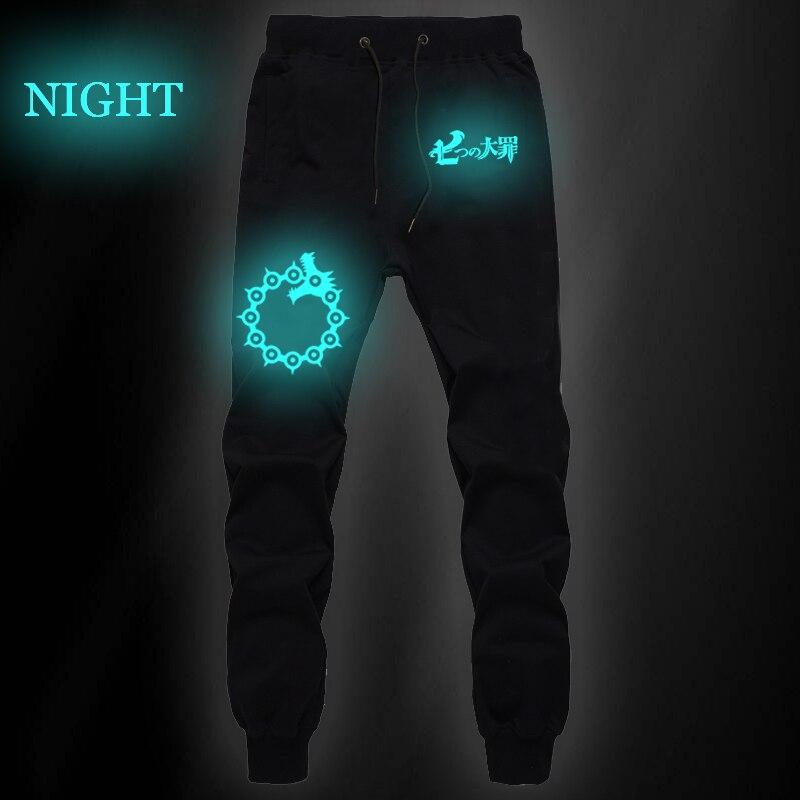 The Seven Deadly Sins Luminous Cotton Breathable Pants Slim Sweatpants Men Gym Straight Pants Joggers Fitness Long Trousers