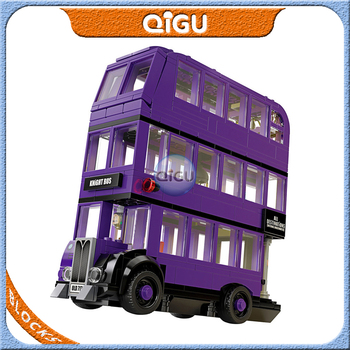 цена на The Knight Harri Movie Purple Bus Building Blocks Model Bricks Toys Compatible with 75957 BELA 11342 Stan Shunpike