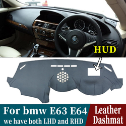 Leather Dashmat Dashboard Cover Pad Dash Mat Carpet Car-Styling accessories For BMW 6 SERIES E63 E64 630 640D 650I  2003-2010