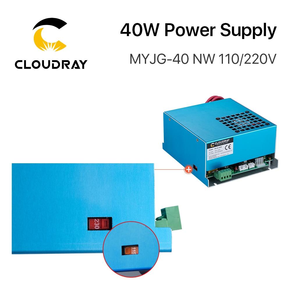 Alimentatore laser a CO2 Cloudray 40W MYJG-40 110 V 220 V per - Parti di macchine per la lavorazione del legno - Fotografia 5