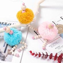 Милые подвесные игрушки для балета и девочки деревянные бусины