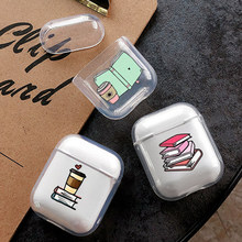 Soft Silicone Cute Air Pods Case For Apple Airpods Case Luxury Cartoon Book Clear Study Airpods Case in Earphone Accessories Hot 3d lucky rat cartoon bluetooth earphone case for airpods pro cute accessories protective cover for apple air pods 3 silicone