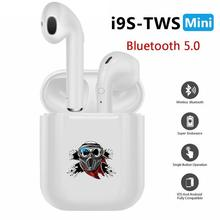 i9s tws Wireless Headphones Bluetooth Earphones earbuds Stereo Sound Headset Creative Funny Skull Paintball Player Reflective(China)