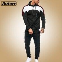 Conjunto de duas peças com capuz masculino, blusão esportivo com capuz e calças de corrida com zíper 5xlConjuntos Masculinos