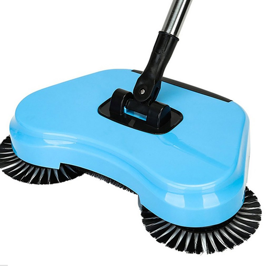 360 degree manual rotary sweeping mop multi-function mechanical sweeper hand push cleaning broom dust collector image