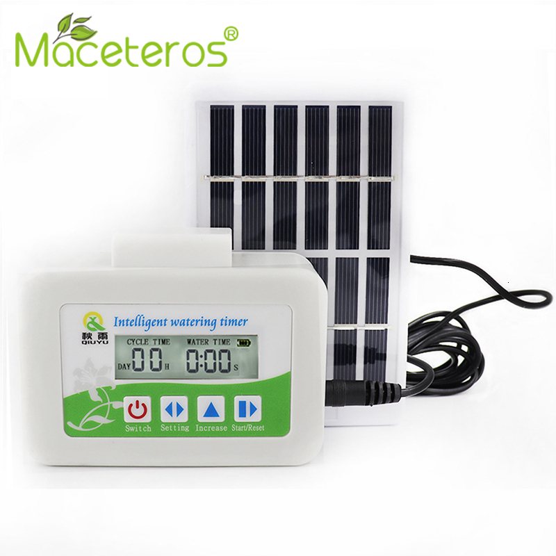 New Intelligent Solar Watering Timer Solenoid Valve Intelligent Garden Automatic Watering Device Garden Drip Irrigation Series