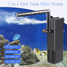 цена на Aquarium Filter Submersible Power Internal Filters For Fish Tank Filter Pump 3 in 1  Spray Flow Biological Filters 3W/4W/8W/22W