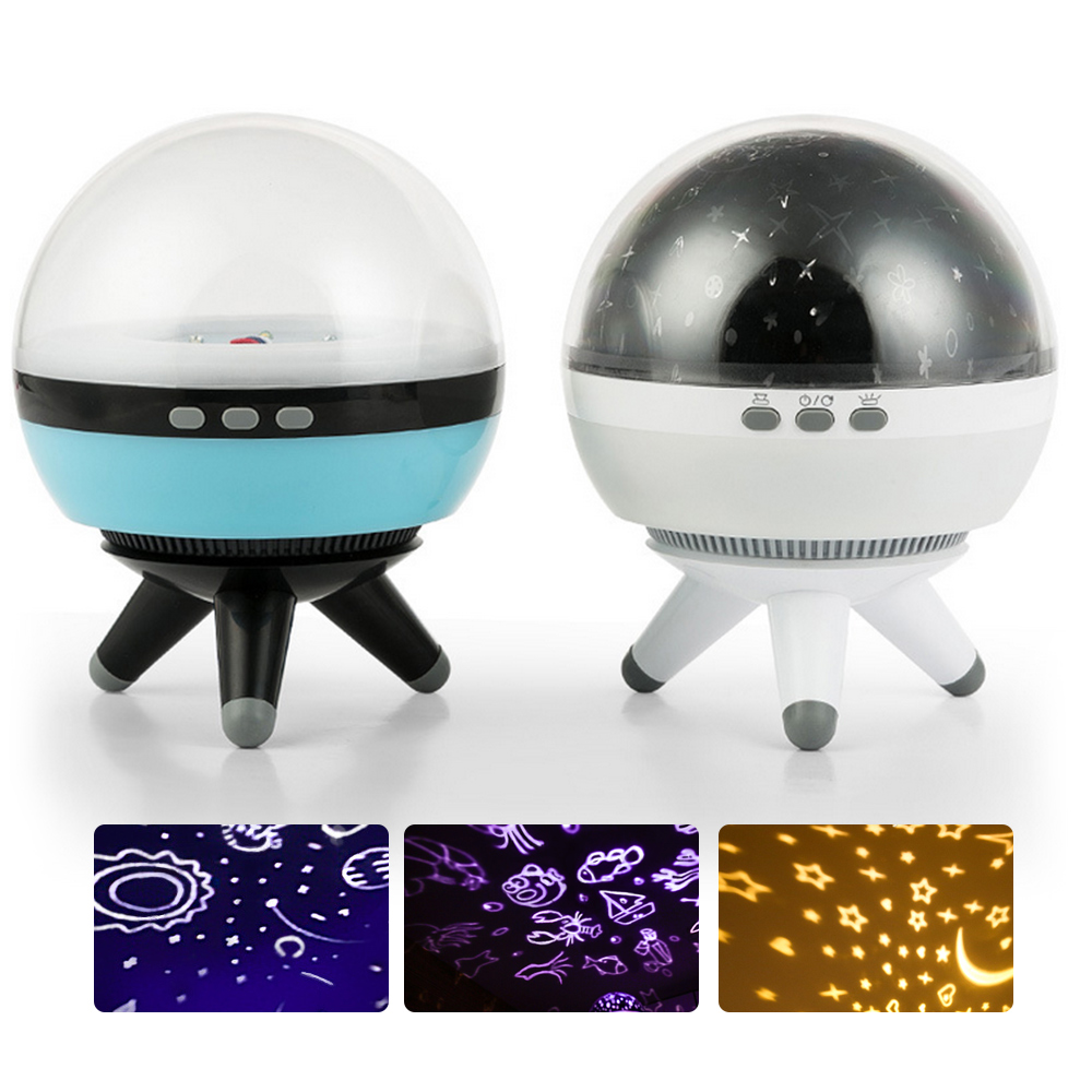 New360 Degree Adjustable Turntable Rotating Projector USB LED Night Light Starry Sky Star For Children Room Romantic Sleep Lamp