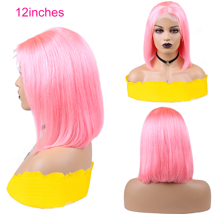 150-Colorful-Lace-Front-Bob-Wigs-Human-Hair-13X4-Pre-Plucked-Blonde-Pink-Blue-Grey-Ombre (3)