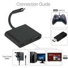 New USB 3.1 Converter Type-C To USB 3.0/HDMI/TypeC Female Charger Adapter for Apple MacBook and Google Chromebook pixel