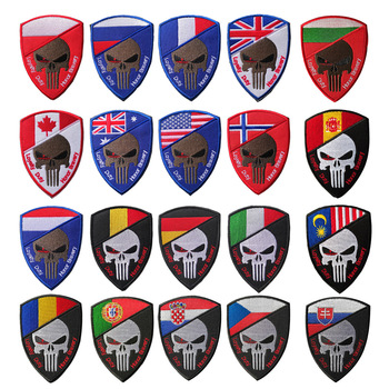 XICC Skull Military Velcro Patches Wars 3D Embroidered National Flag Tactical Outdoor Stickers Soldier Badges for Clothes Bags embroidered patches medic skull tactical military patches paramedic decorative reflective medical cross embroidery badges