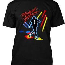 Vintage 1984 Michael Jackson Victory Tour camiseta para Fan impreso redondo hombres camiseta precio barato top tee