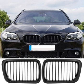 1 Pair ABS Front Hood Kidney Grille Grills Gloss Black Fit for BMW E36 3-Series 1997 1998 1999 Auto Car Styling High Quality image