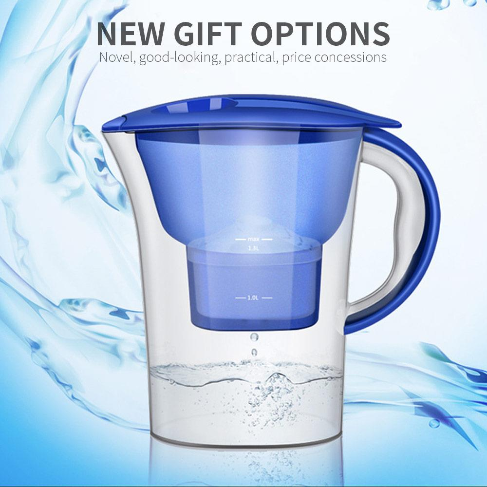Water Purification Jug 2.5L Brita Water Filters Kettle Pure Healthy Mineral Water Lonizer Alkaline Filtered Pot Home Kitchen
