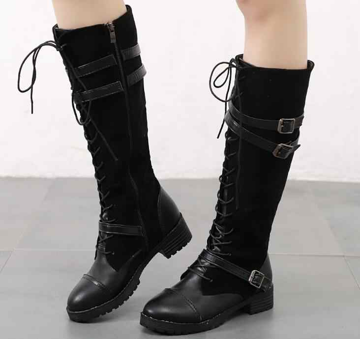 Breathable flock lace-up classic elegant แฟชั่นรองเท้า shose cancise ปั๊มฤดูหนาวนุ่มและสบาย wedges ผู้หญิงแบบสบายๆรองเท้าบูท