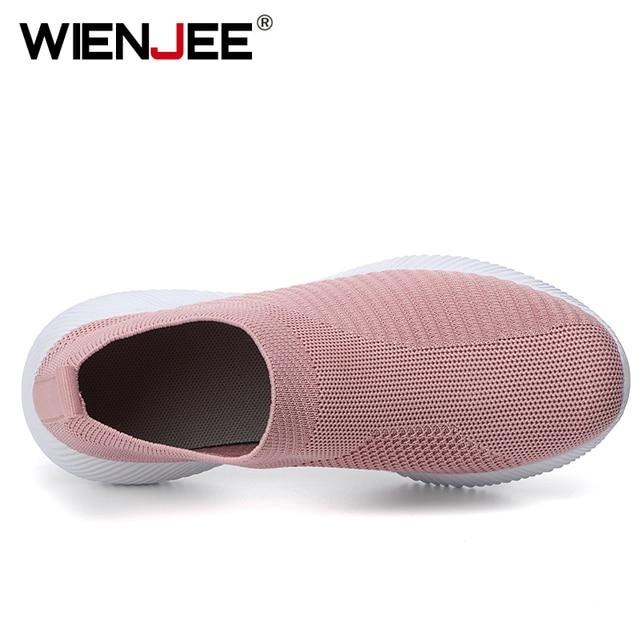Mulher vulcanizada sapatos de alta qualidade das sapatilhas das mulheres deslizamento em apartamentos sapatos femininos mocassins plus size 42 andando plana 3