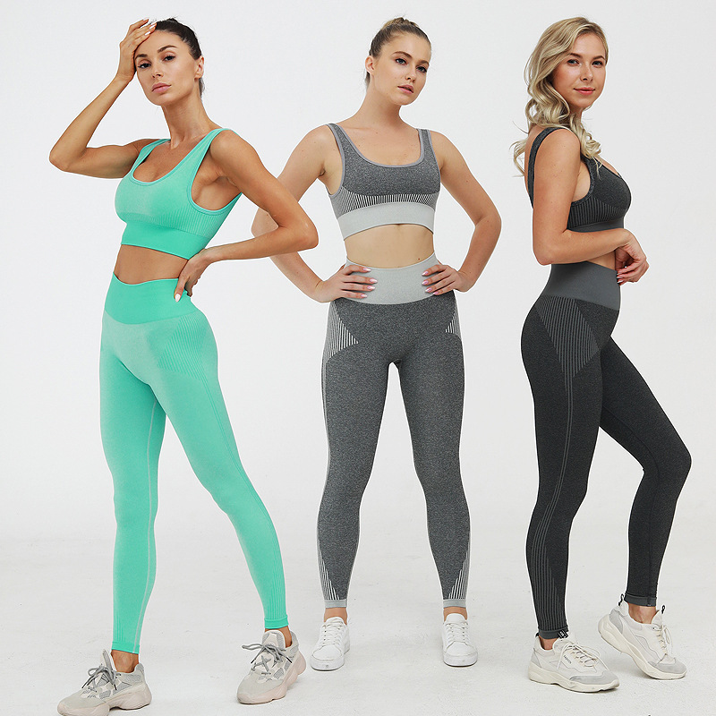 Conjunto de yoga feminino para academia, roupas
