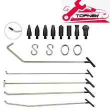 Rods Tools Paintless Dent Repair Kits Car Auto and Wall Body Dents Removal Set Stainless with 8 Taper Head and S-Hook