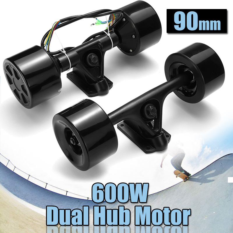 High Power Dual Drive 90mm 600W Electric Skateboard Hub Motor Kit DC Brushless Remote Controll Scooter Drive Hub Motor-in Skate Board from Sports & Entertainment