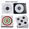 100PCS 14cmx14cm Shooting Target Papers for Paintball BB Gun Pistol Airsoft Accessories Military Practice Square Paper Targets