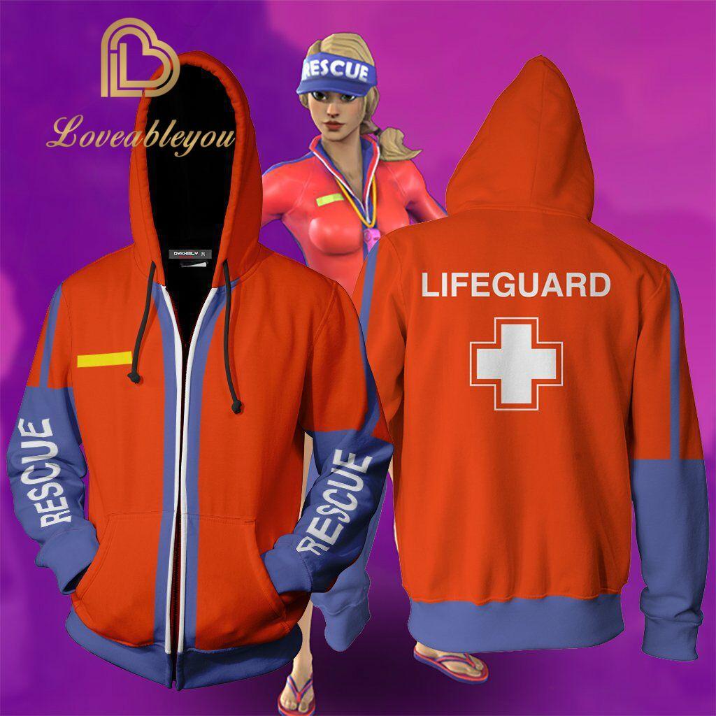 Men Women LIFEGUARD 3D Printed Hoodie Sweatshirt Pullover Casual Unisex Costume