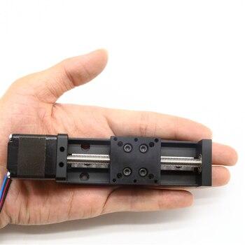 0.05mm dokładność Mini stół przesuwny skok 15-300mm śruba pociągowa T6 skok śruby 1mm w tym silnik NEMA11