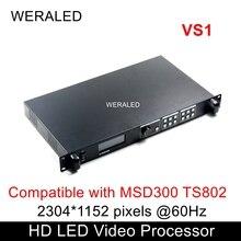 Novastar pantalla LED VS1, procesador de vídeo HD, Compatible con MSD300 TS802, tarjeta de envío