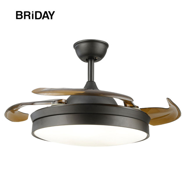 black 42 inch ceiling fan control with lights remote control silent ventilator 110v fans lamp for home controlled 65w