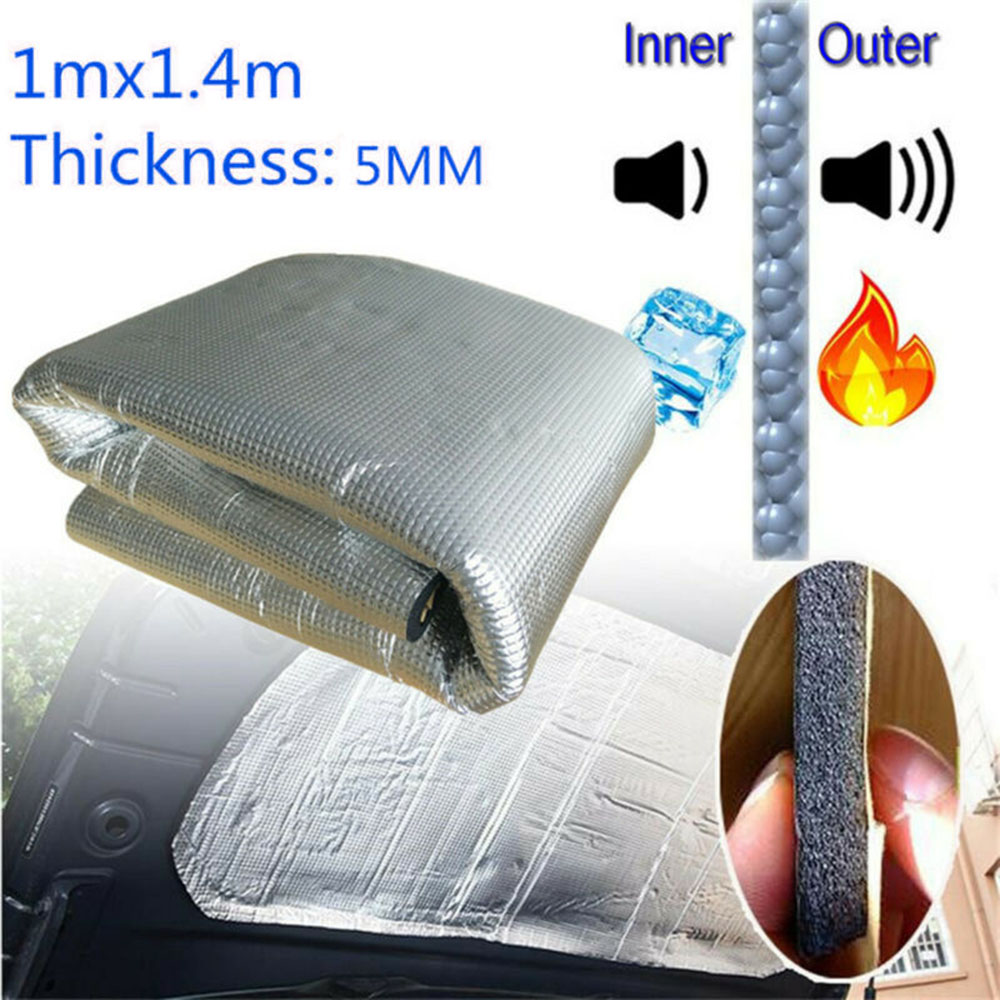 5MM Car Sound Fire Deadener Thermal Heat Insulation Sound-Absorbing Cotton Mat High Noise Reduction And Heat Insulation