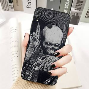 Image 2 - YNDFCNB Gothic Fashion Skull Phone Case for Huawei Honor 8x C 9 10 i lite play view 10 20 30 5A Nova 3 I