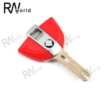 For BMW K1200R K1200S R1200GS Motorcycle Part Uncut Blade Blank Key K 1200R 1200S R 1200GS R1200 GS K1200 S 2013-2015 2014 Red image