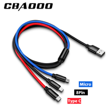 3 in 1 Usb Cable Type C 8 Pin Micro Mobile Phone