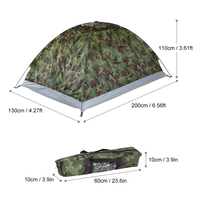 TOMSHOO Camping Tent for 2 Person Single Layer Outdoor Portable Camouflage Waterproof Outdoor Hiking Tent