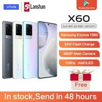 "Original 5G vivo X60 Curved Screen Version NFC Samsung Exynos 1080 8GB 256GB 6.56"" AMOLED Smartphone 33W FlashCharge 48MP Camera 1"