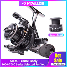 Mavllos Saltwater Carp Spinning Fishing Reel 15BB Ratio 5.5:1 1000-7000 Model 2 Spools Metal Body Sea Boat Jigging Fishing Reel mavllos saltwater fishing spinning reel 7000 8000 11000 aluminum alloy handle spool long shots jigging reel boat fishing reels