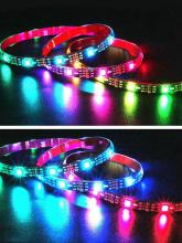 2M 30LED 5050RGB Strip Light TV Background Light with USB Power Supply Changing Color Light