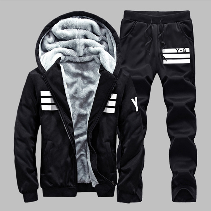 MEN'S Sweater Hooded Autumn And Winter Thick Set Men's Korean-style Casual Sports Brushed And Thick MEN'S Coat