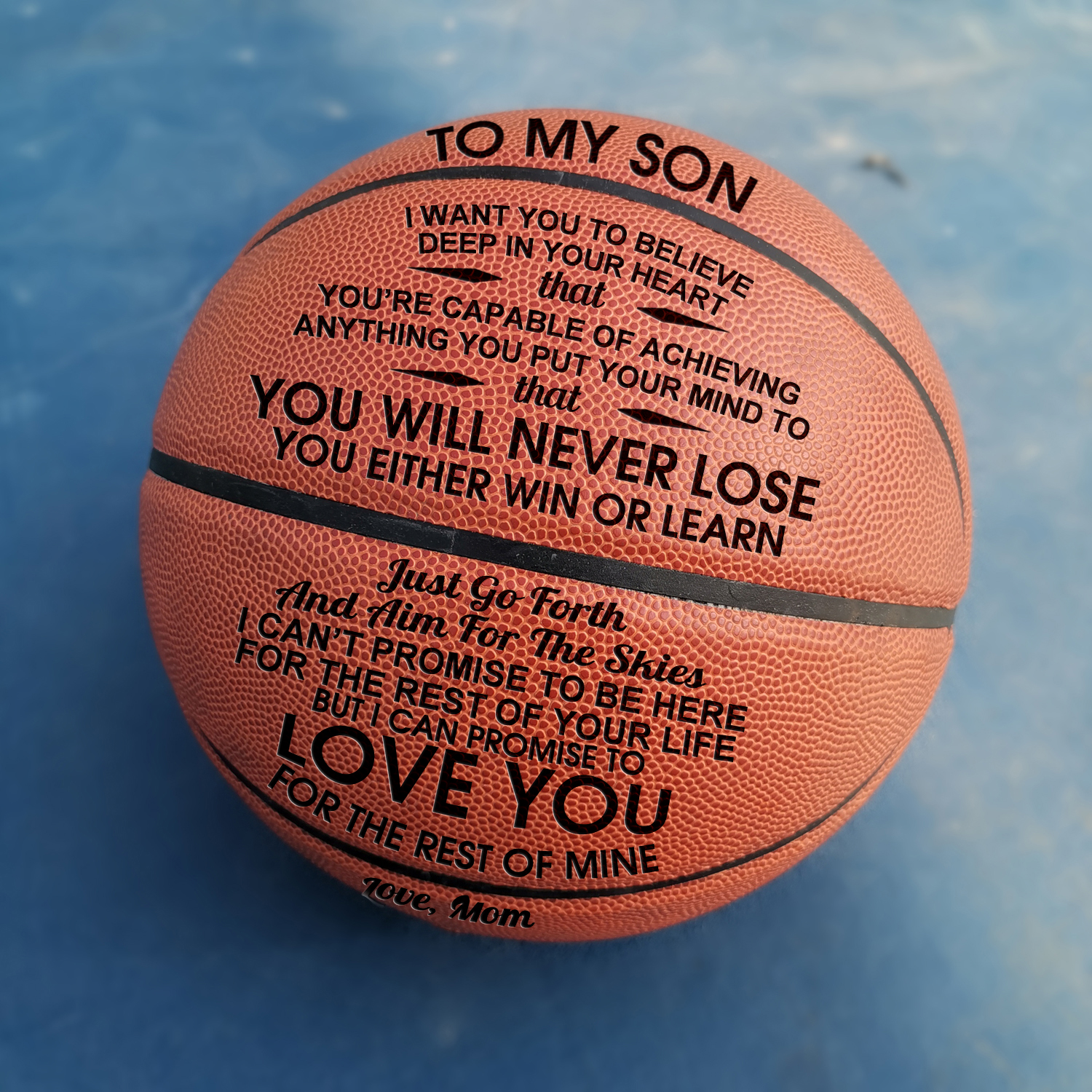 Mom To My Son You Basketball Wholesale Or Retail Cheap Basketball Ball Official Size7 Basketball With Net Bag+ Needle