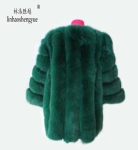 Image 5 - Linhaoshengyue Length70CM abrigo de piel de zorro auténtica, abrigo de piel Natural, abrigo de piel auténtica de zorro, mujeres de invierno