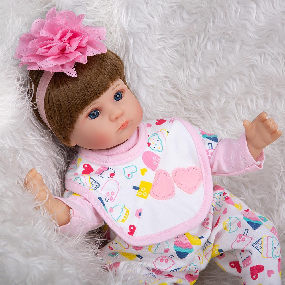 Keiumi реалистичные детские куклы reborn 17 ''42 см