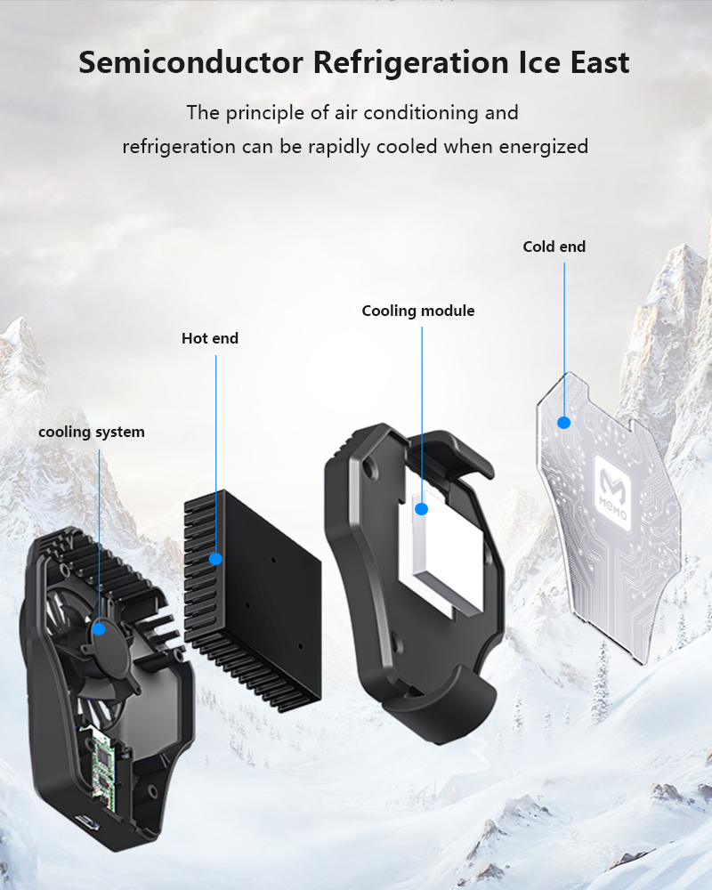 MEMO Mobile Phone Radiator Gaming Universal Phone Cooler module Cooling Fan Holder Heat Sink For iPhone Samsung Huawei Xiaomi