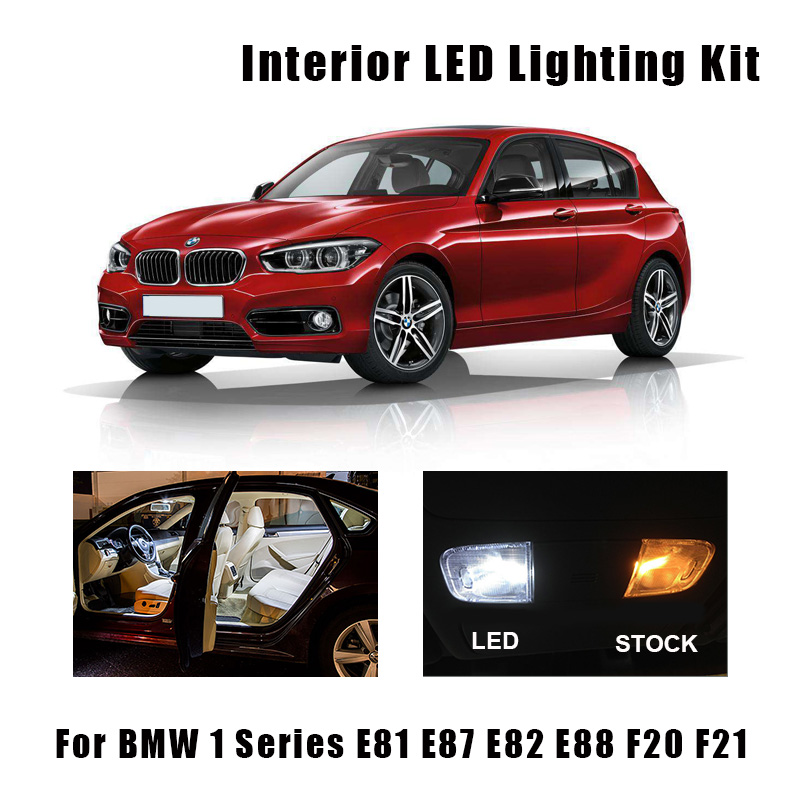 Автомобисветодиодный Светодиодная лампа Canbus для салона автомобиля, белая, без ошибок, для BMW 1 серии E81, E87, E82, E88, F20, F21, 2003-2019