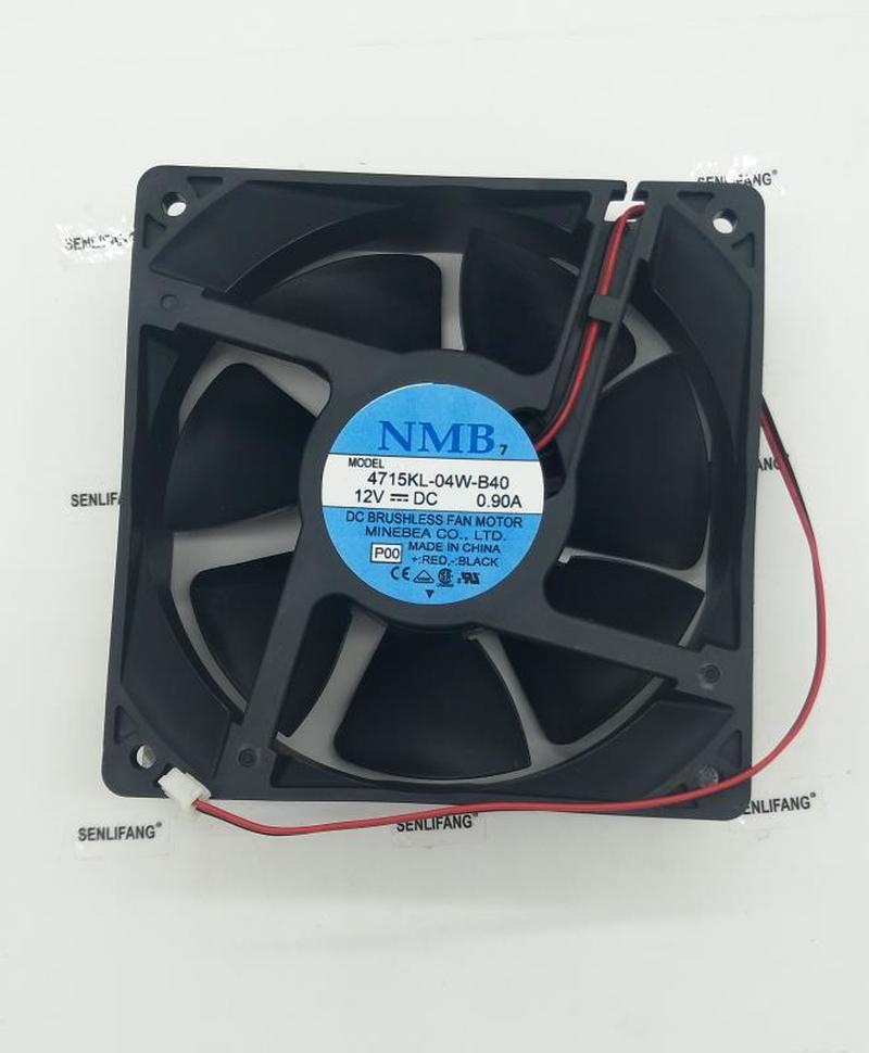 4715KL-04W-B40 P01 P00 DC 12V 0.90A 120x120x38mm 2-wire Server Cooler Fan
