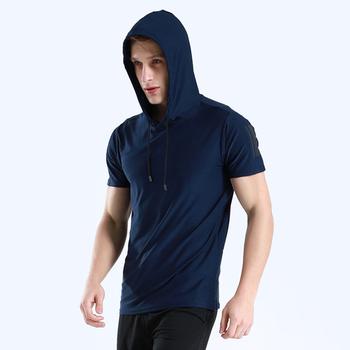 Męskie koszulki treningowe koszulki mięśniowe koszulki gimnastyczne koszulki sportowe męskie koszulki sportowe Dry Fit bieganie koszulka z kapturem koszulka fitness koszulka Rashgard tanie i dobre opinie XISHA Poliester Pasuje mniejszy niż zwykle proszę sprawdzić ten sklep jest dobór informacji Wiosna Lato AUTUMN Winter