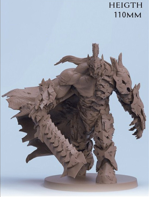 110mm Ancient Fantasy Warrior Stand (NO BASE ) Resin Figure Model Kits Miniature Gk Unassembly Unpainted