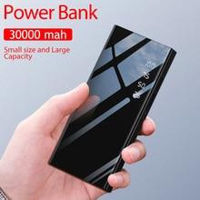 30000mAh 2 USB Power Bank Portable for IPhone Xiaomi Samsung